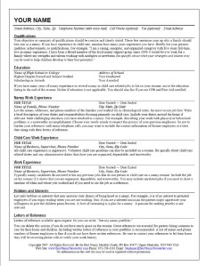 The Standout Nanny Resume