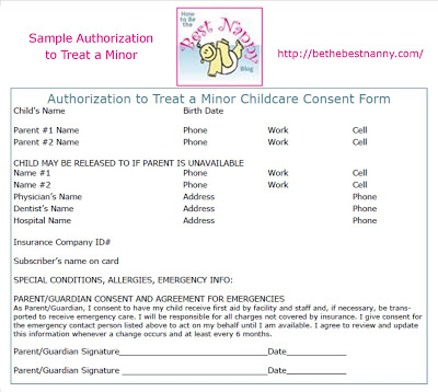 Have The Parents Signed An Authorization To Treat A Minor Consent