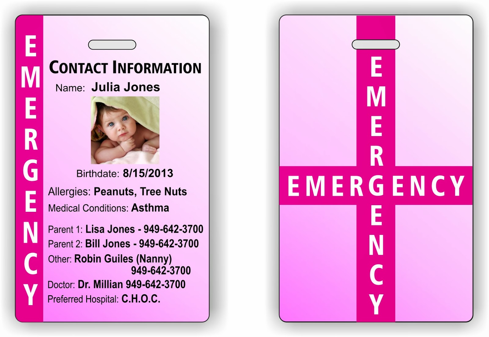 tag ur it  child safety id tags