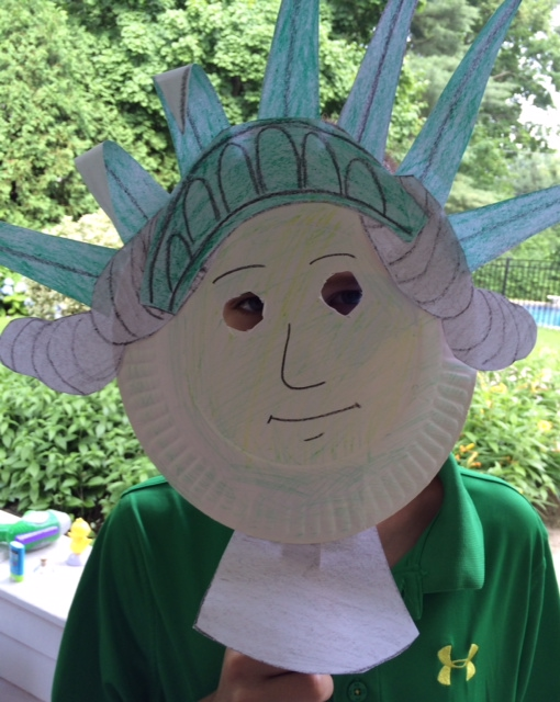 Statue of Liberty Paper Plate Mask –